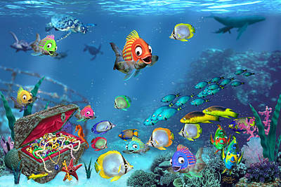 Underwater Fantasy Poster by Doug Kreuger