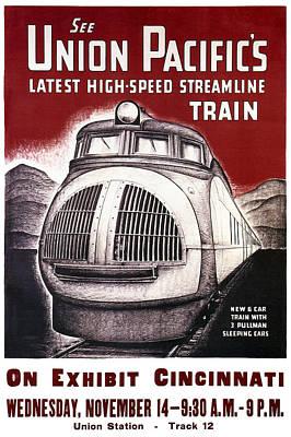 Union Pacific Record-breaking Streamline Train 1934 Poster by Daniel Hagerman