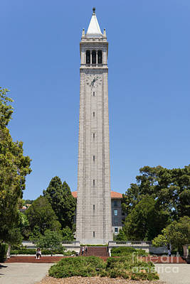 University Of California Berkeley Sather Tower The Campanile Dsc4043 Poster by Wingsdomain Art and Photography