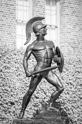 University Of Southern California Tommy Trojan Statue Poster by University Icons