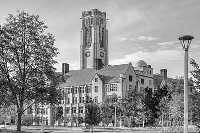 University Of Toledo University Hall Poster by University Icons