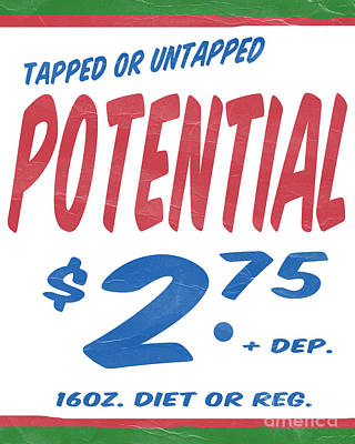 Untapped Potential Supermarket Series Poster by Edward Fielding