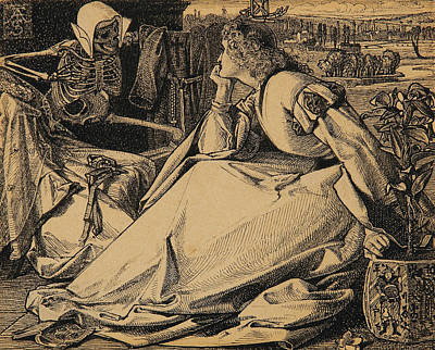 Until Her Death Poster by Frederick Sandys