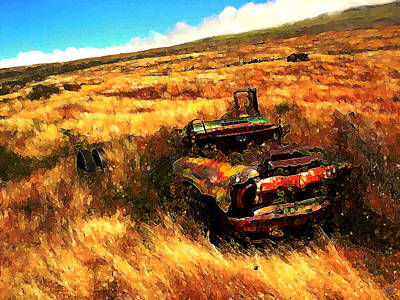Upcountry Wreck Poster by Kenneth Armand Johnson
