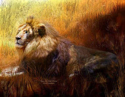 Upon His Wild Throne Poster by Carol Cavalaris