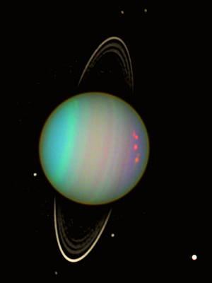 Uranus Poster by Nasaesastscie.karkoschka, U.arizona