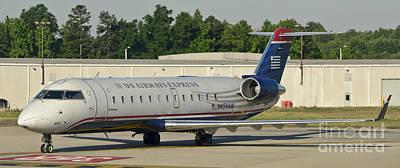 Us Airways Express Jet Plane Poster by David Oppenheimer