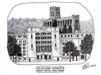 Us Military Academy At West Point Ny Poster by Frederic Kohli