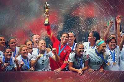 Us Women's Soccer Poster by Semih Yurdabak