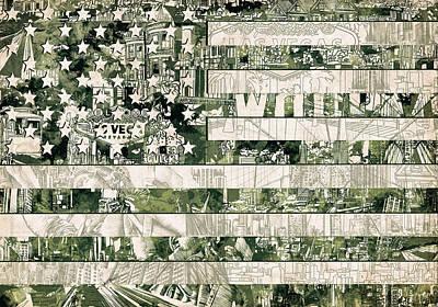 Usa Flag 15 Poster by Bekim Art