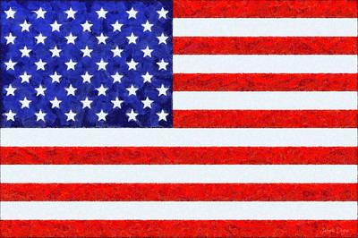 Usa Flag  - Camille Style -  - Pa Poster by Leonardo Digenio