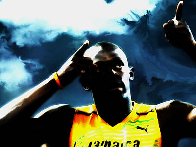 Usain Bolt 06c Poster by Brian Reaves