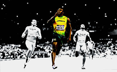 Usain Bolt 12e Poster by Brian Reaves