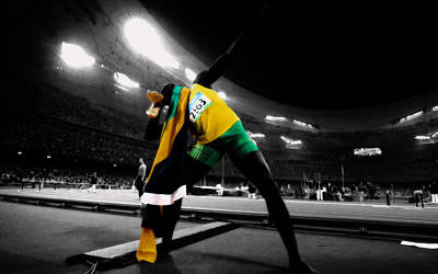 Usain Bolt 3c Poster by Brian Reaves