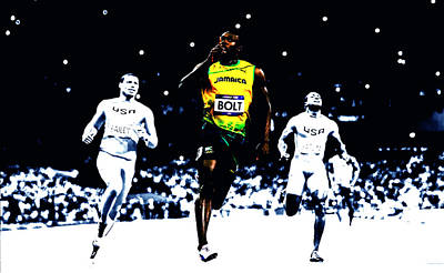 Usain Bolt Once Again Poster by Brian Reaves