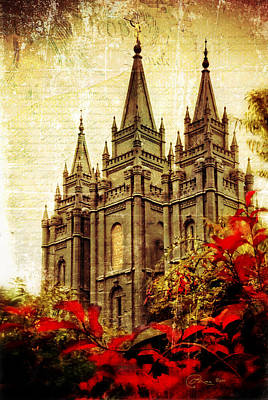 Use It Vintage Temple Poster by La Rae  Roberts