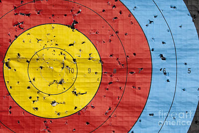 Used Archery Target Close Up Poster by Simon Bratt Photography LRPS