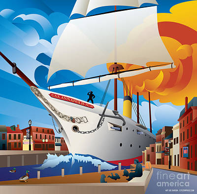 Uss Annapolis In Ego Alley Poster by Joe Barsin