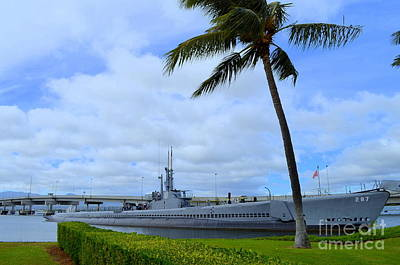 U S S Bowfin Submarine At Pearl Harbor Poster by Mary Deal