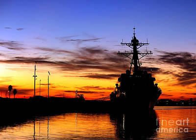 Uss Spruance Is Pierside At Naval Poster by Stocktrek Images