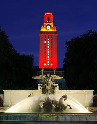 Ut Austin Tower Orange Poster by Lisa  Spencer