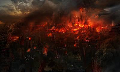 Utherworlds Reckoning Day Poster by Philip Straub