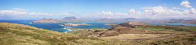 Valentia Island Countryside Panoramic Poster by Scott Pellegrin