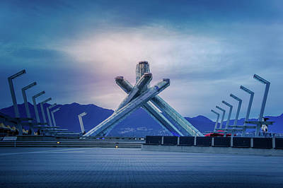 Vancouver 2010 Olympic Cauldron Poster by Art Spectrum