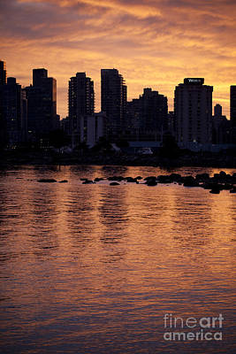 Vancouver From Stanley Park I Poster by Chris Dutton