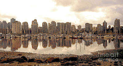 Vancouver Reflections Poster by Linda  Parker