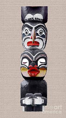 Vancouver Totem - 1 Poster by Linda  Parker