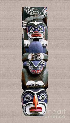 Vancouver Totem - 2 Poster by Linda  Parker