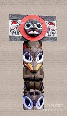 Vancouver Totem - 3 Poster by Linda  Parker