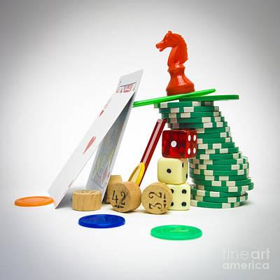 Variety Of Games Poster by Bernard Jaubert