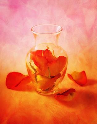 Vase Of Roses Still Life Poster by Tom Mc Nemar