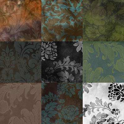 Velvet Patchwork Poster by Mindy Sommers