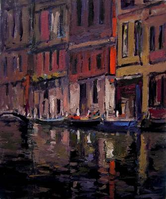 Venice At Dusk Poster by R W Goetting