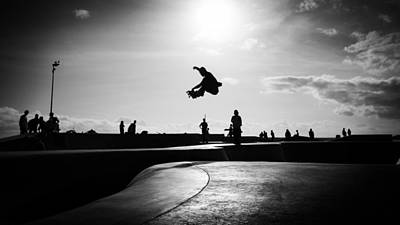 Venice Beach - Los Angeles, United States - Black And White Street Photography Poster by Giuseppe Milo