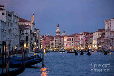 Venice Blue Hour 2 Poster by Heiko Koehrer-Wagner
