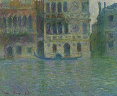 Venice, Palazzo Dario Poster by Claude Monet