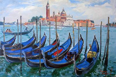 Venice View Of San Giorgio Maggiore Poster by Ylli Haruni