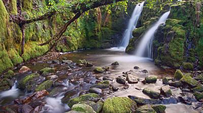 Vennford Waterfall On Dartmoor Poster by Pete Hemington