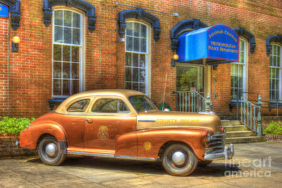1948 Chevrolet Stylemaster Coupe Chatham County Police Car Poster by Reid Callaway