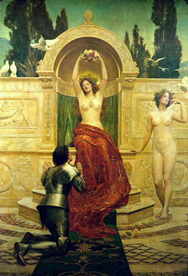 Venusberg Scene From Tannhauser Poster by John Collier
