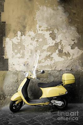 Vespa Motorscooter Florence Italy Poster by Edward Fielding