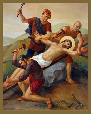 Via Dolorosa - Jesus Is Nailed To The Cross - 11 Poster by Svitozar Nenyuk