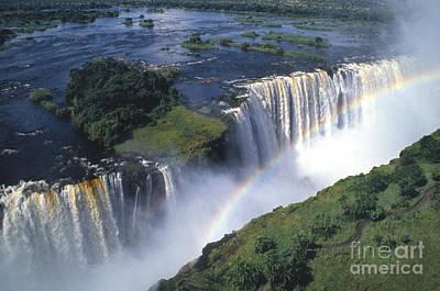 Victoria Falls Rainbow Poster by Sandra Bronstein