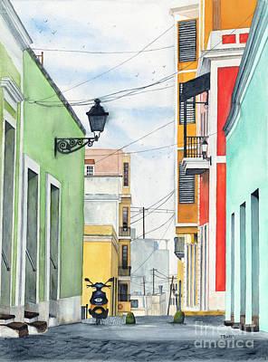 Viejo San Juan Poster by Tom Dorsz