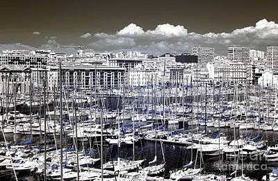 Vieux Port Clouds Poster by John Rizzuto