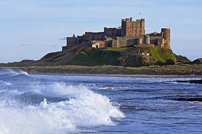 View From Ocean Of Bamburgh Castle Poster by Axiom Photographic
